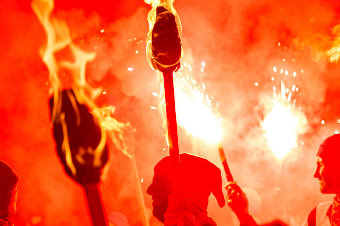 Lewes Bonfire Night, 2017 Bonfire Burning Celebration Flame Lewes November Celebration Close-up Crowd Fire Firework - Man Made Object Firework Display Heat - Temperature Lewes Bonfire Martyrs Night Outdoors People Real People Red