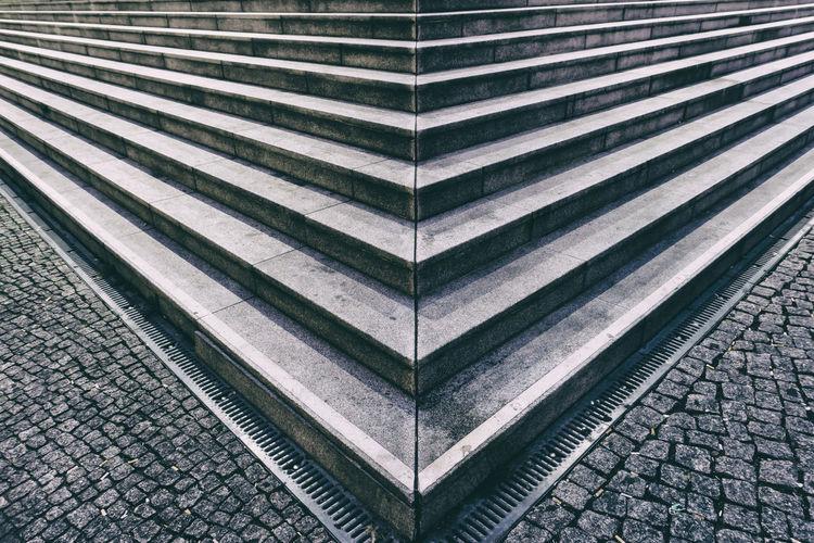 High Angle View Of Steps