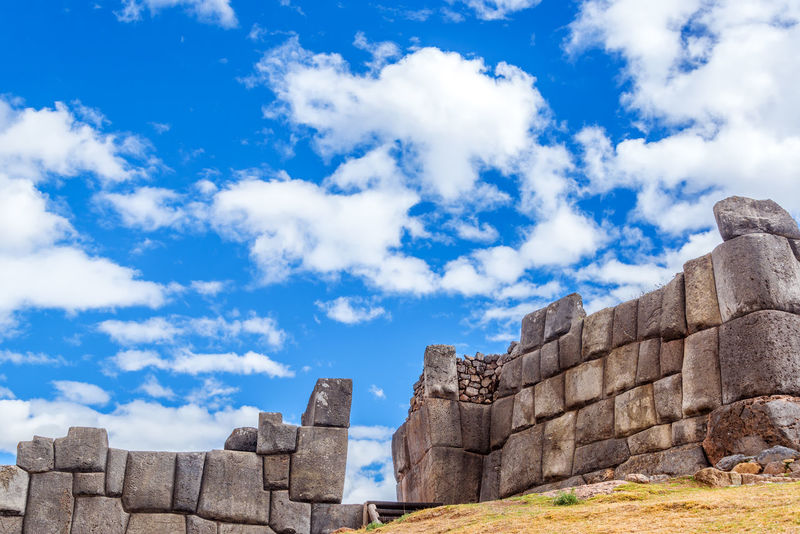 Incan ruins of a fortress known as Sacsayhuaman on the outskirts of Cusco, Peru America Ancient Andes Capital Center City Cusco Cuzco Fortress Historic Inca Machu Picchu Old Outskirts Peru Peruvian Ruins Sacred Sacsayhuaman Tourism Town Travel Unesco Urban World