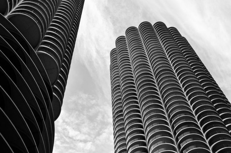 Architecture Blackandwhite Building Exterior Chicago Architecture Geometry No People Tower Twins