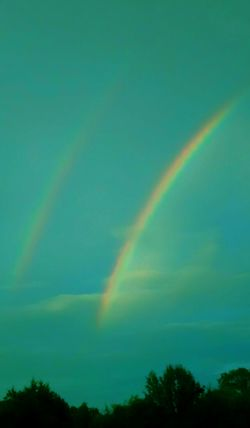 Scenics Nature Beauty In Nature Sky No People Tranquility Day Outdoors Rainbow Double Rainbows The Natural World Beauty In Nature Alabama