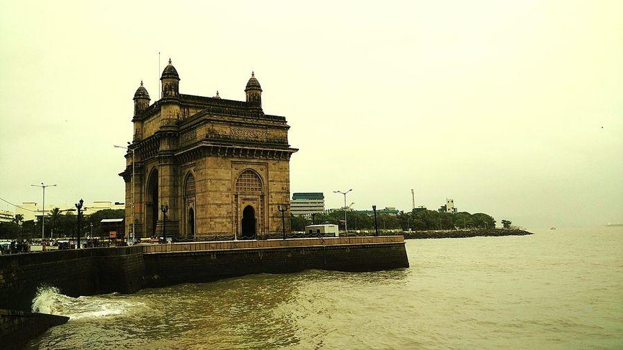 Hanging Out Gateway Of India Mumbai Monsoon Season Sea Shore Waves Crashing On Rocks Weatherporn Eyemphotography Monument Showcase July