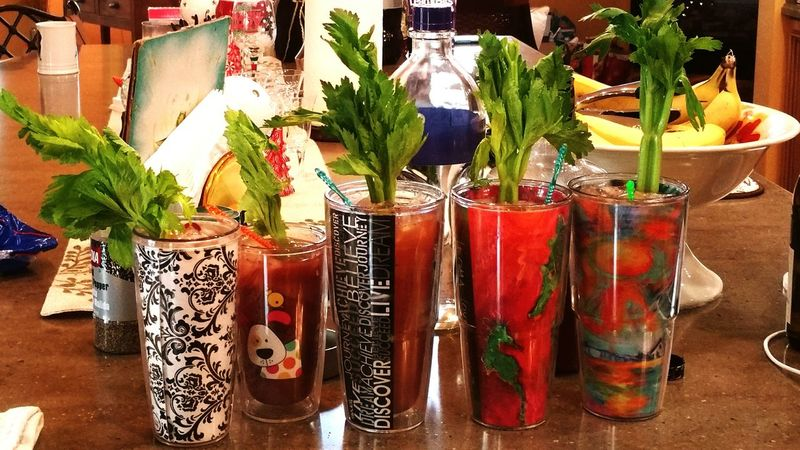 Party time with some bloody marys