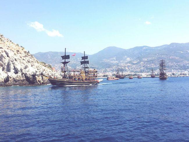 On The Way Pirate Ship Turkey Alanya/Turkey Sea