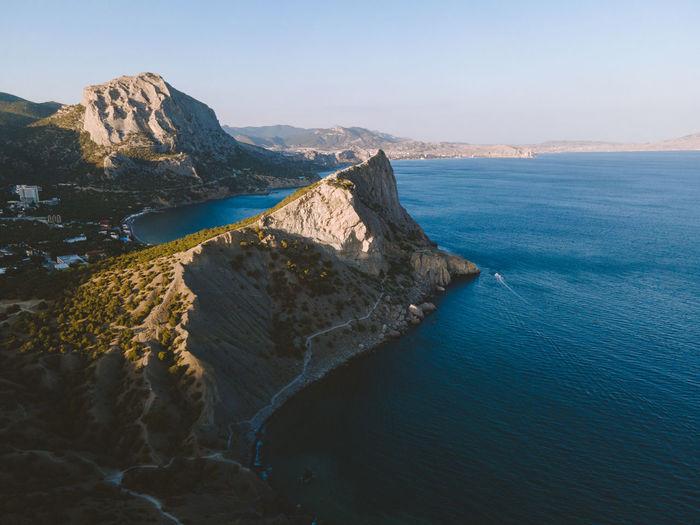 Crimean landscape from a bird's eye view