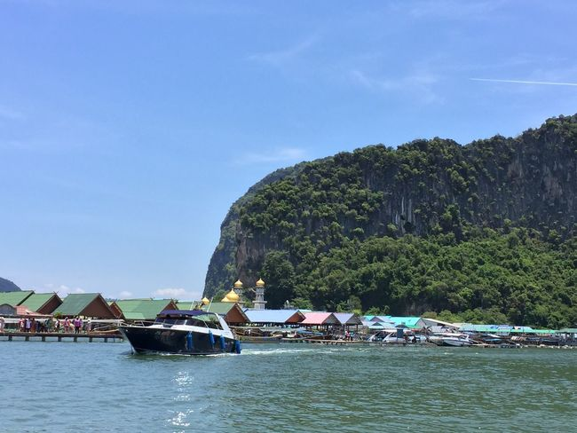 Panyee Island Nautical Vessel Beauty In Nature Mode Of Transport Transportation Longtail Boat Scenics Rock - Object Waterfront Thailand Travel Destinations Water Sea Outdoors