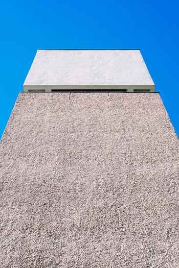 Architecture Berlin Berlin Photography Angles Angles And Lines Berliner Ansichten Blue Building Building Exterior Clear Sky Concrete Concrete Jungle Day Geometric Shape Geometry Low Angle View No People Outdoors Sunlight Tall - High