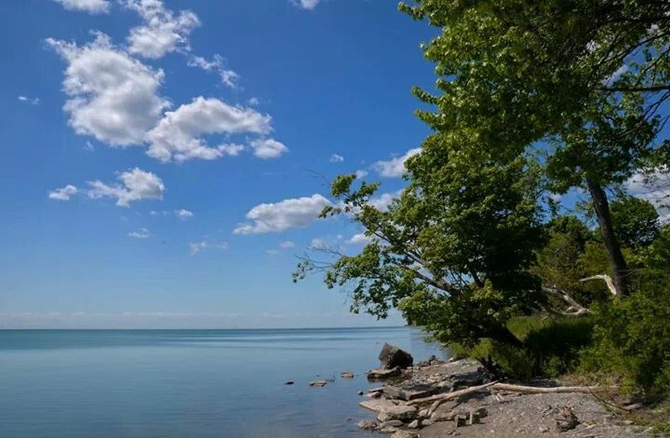 hdr lakeshore HDR Lake Lakeshore Sky