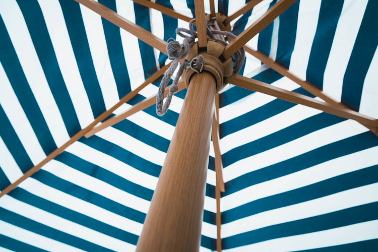 Low angle view of parasol