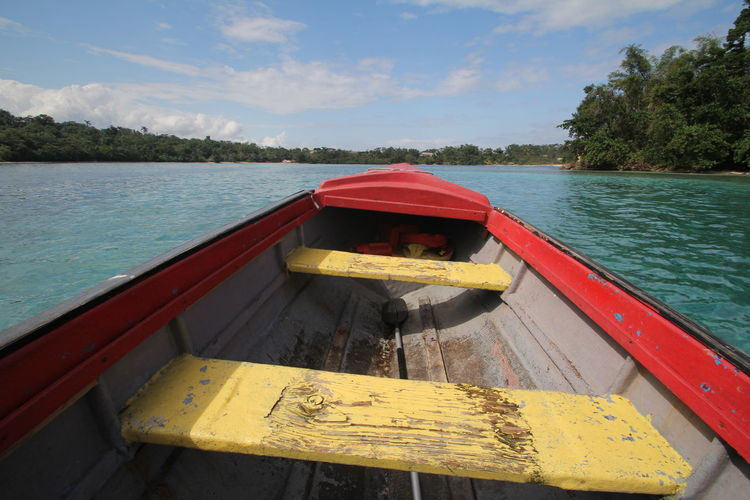 Caribbean Sea Monkey Island Boat Trip Island Jamaica Nautical Vessel No People Outdoors Port Antonio, Jamaica Portland, Jamaica Sky Transportation Tree Water