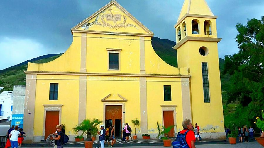 Church Churches Colour Splash Colour Of Life Colourful World Dramatic Sky Against Dramatic Sky Bad Weather On Its Way Colourful Architecture Church Architecture Sightseeing Spot on one of the eolian islands cannot remember its name 😕Sorry 😯 Holiday Sightseeing This Is Aging