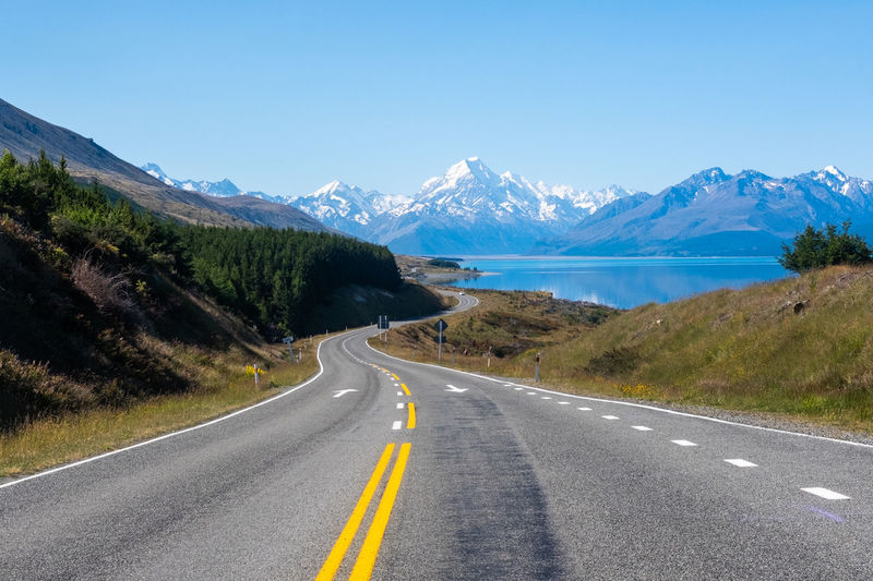 Road Mountain Road Marking Transportation Marking Symbol Sign Direction The Way Forward Mountain Range Sky Nature Beauty In Nature No People Scenics - Nature Day Non-urban Scene Tranquil Scene Diminishing Perspective Asphalt Dividing Line Outdoors