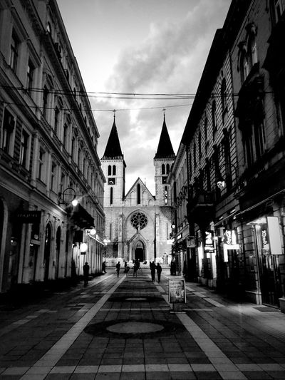 City Sarajevo Infrastructure Architecture Bosnia Europe Cathedral Strosmaer Street Blackandwhite Black And White Photography Art Love Photo Love Photography Pic Of The Day Mobilephotography LGG3 SUPPORT Buy It Share It Share My Life Passion Beautiful