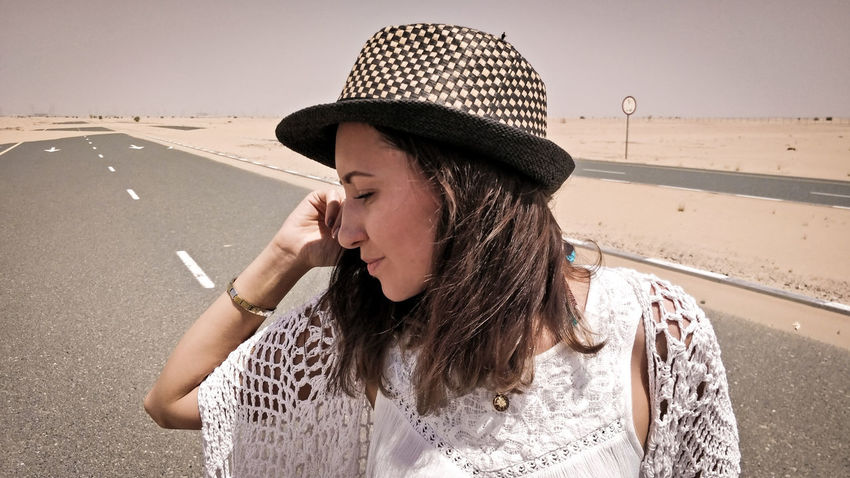 Young Women Sand Dune Beach Sand Summer Sun Hat Sky Close-up Shore Horizon Over Water Rushing Calm Hand In Hair Straw Hat Hooded Beach Chair Thoughtful Coast Surfer Lifeguard Hut Groyne Seascape Wave Surf Sea Ocean