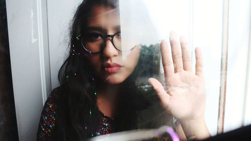 Young Women Women Beautiful Woman Beauty Looking Through Window Window Home Interior Human Hand Beautiful People Females Depression - Sadness Disappointment Monsoon Hopelessness Despair Crying Child Abuse Divorce Bad News Teardrop RainDrop Homelessness  Suicide Rain Transparent Tensed Thoughtful Distraught  Sadness Rainy Season