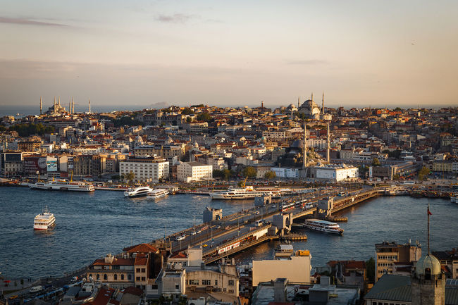 Fatih from Galata Tower I EyeEmNewHere EyeEmReady Galata Tower Golden Horn Istanbul Turkey Architecture Building Exterior Built_Structure City Cityscape Day Fatih Harbor High Angle View Nature Nautical Vessel No People Outdoors Sea Sky Travel Destinations Water Fresh On Market 2018