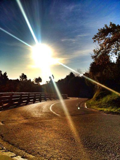 Road & Sunset