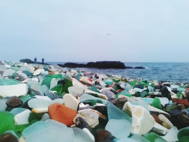 Cold Summer Seaside Glass Beach Sea Of Japan East Sea
