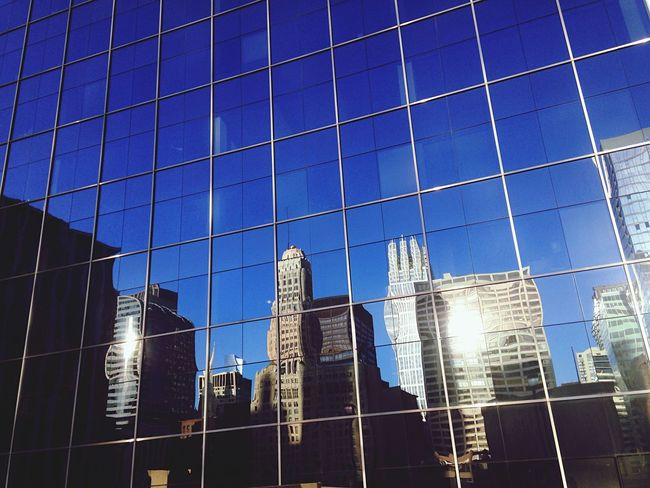 Cobalt Blue By Motorola Blue Glass Glass Reflection Hi Rise Photography Chicago Architecture IPhoneography
