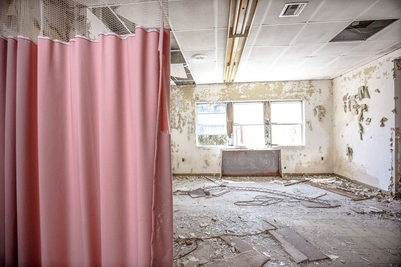 Indoors  Textile No People Domestic Room Home Interior Window Abandoned Rotting Architecture Built Structure Day Close-up Pink Hospital Curtains
