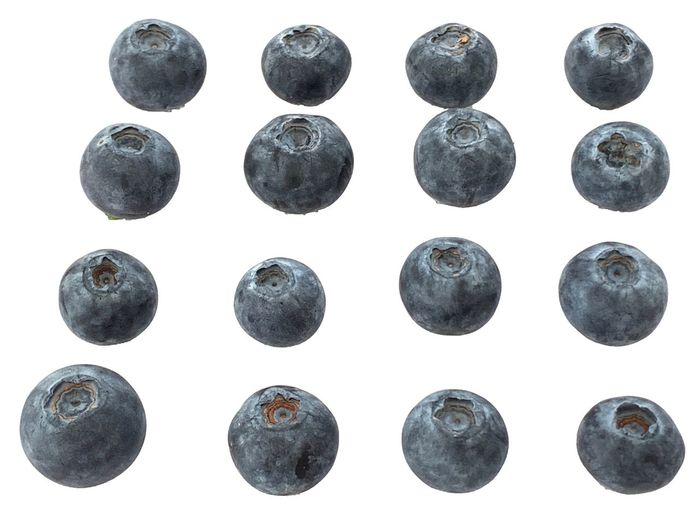 Blueberries Blueberry White Background Pattern In A Row Black Color Circle Geometric Shape Cut Out Backgrounds Shape Arts Culture And Entertainment Design Metal No People Full Frame White Color Studio Shot Music Close-up Sphere Arrangement