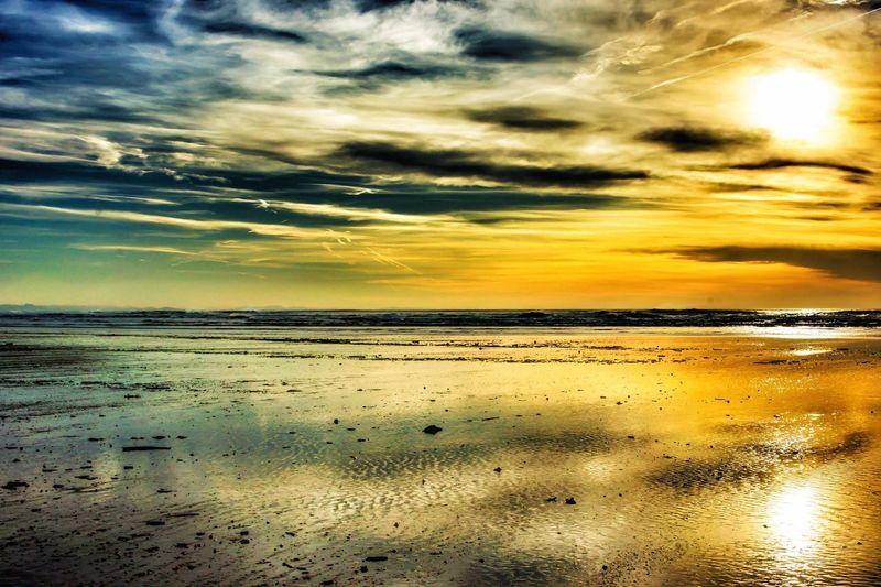 Ocean Sunset Beach Sun Colors