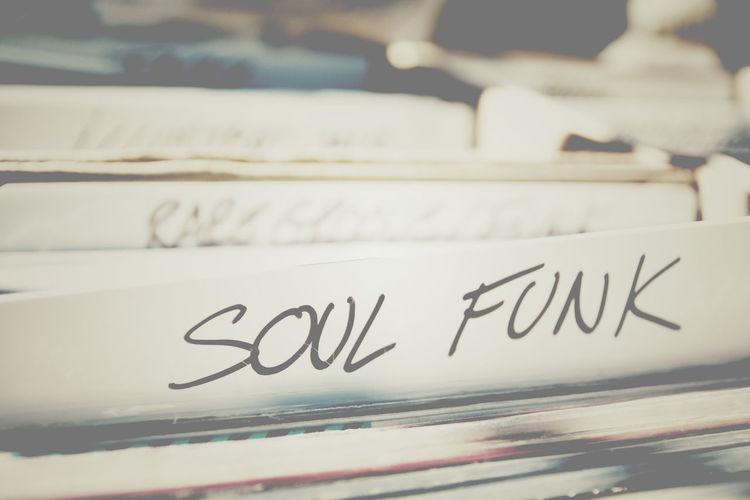 Close-up of music vinyl