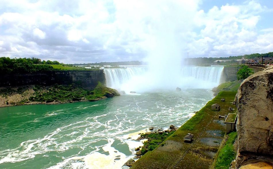 Niagara Falls Water Scenics Nature Beauty In Nature Motion Travel Tranquil Scene Sky Outdoors Tranquility No People Travel Destinations Waterfall Tourism Day Power In Nature Freshness Maid Of The Mist EyeEmNewHere The Traveler - 2018 EyeEm Awards