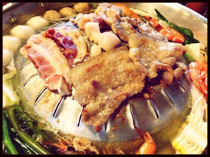 My dinner! Mookata Thaisteamboat