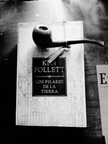 Smoking Coffee And Cigarettes Reading & Relaxing Smoker Enjoying Life Monochrome