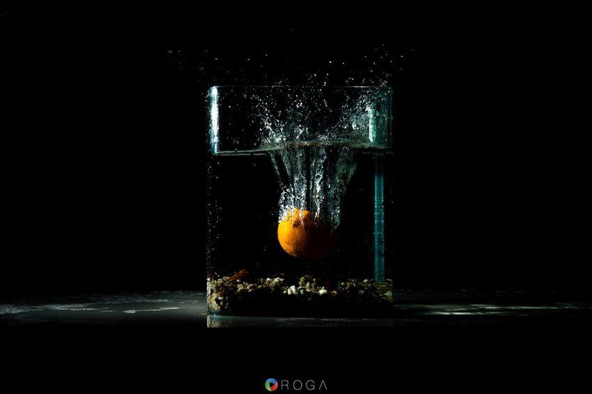 Playing with light... Studio Shot Splashing Black Background Water Motion Impact Water OrangeZerofotografieeRoga - Photography & Video ROGA