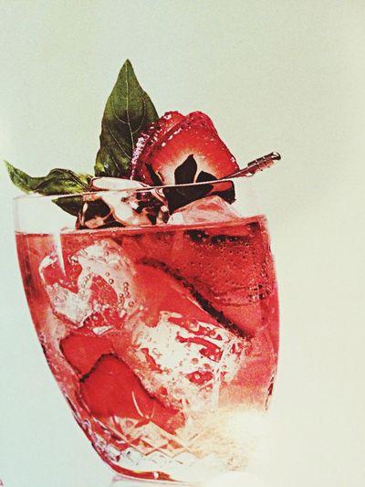 Strawberry Basil Rickey!  Cocktail