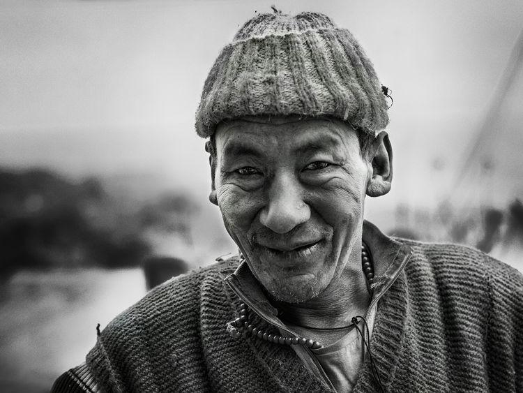 Showcase: December Portrait Smile Arunachal Pradesh Oldman Worker Tawang India Monochrome