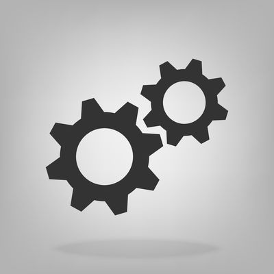 Gear sign flat icon for graphic design, logo, web site, social media, mobile app, ui illustration Technology Symbol Wheel Gear Industrial Cog Machine Equipment Industry Circle Engine Cogwheel Teamwork Sign Motion Round Factory Transmission Graphic Metal Connection Spin Teeth Team Shape