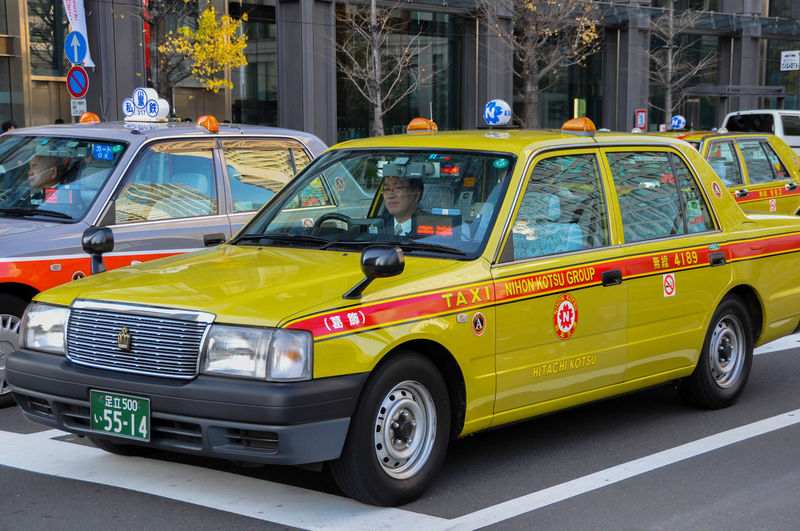Car City City Life City Street Cityscape Day Japan Japan Photography Japanese Style Japanese Taxi No People Outdoors Street Taxi Transportation Yellow Yellow Taxi