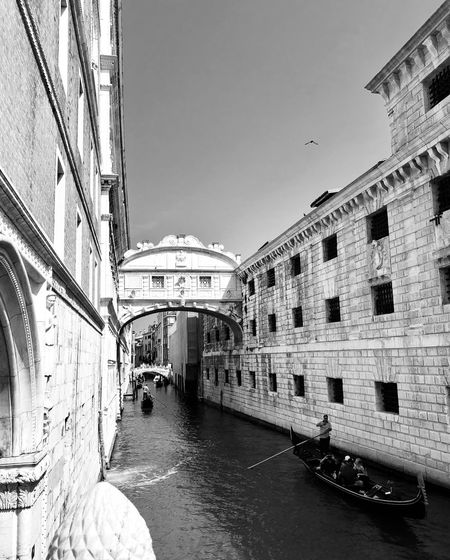 Bridge Venice, Italy Venice Building Exterior Built Structure Architecture Sky Building Clear Sky City Day Nature Residential District Transportation No People Outdoors Travel Mode Of Transportation Street Water Sunlight Window