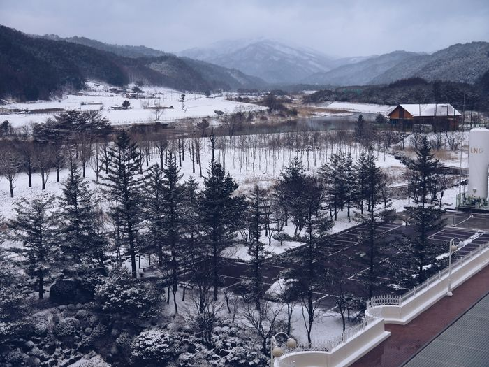 Mountain Snow Cold Temperature Winter Tree Building Exterior Architecture Scenics - Nature Beauty In Nature Day