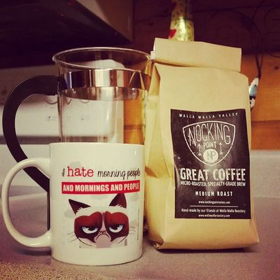 Can't get his wine shipped here to VT but that won't stop me from having a nice cuppa Oliver Queen coffee first thing in the morning. Nerdgirlproblems Goodmorning Coffee Riseandgrind nockingpointcoffee @amelladventures