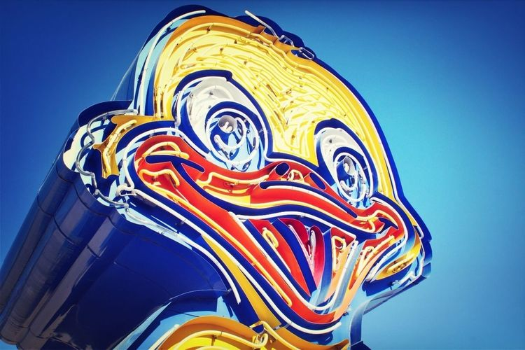 Blue Neon Las Vegas Fairground