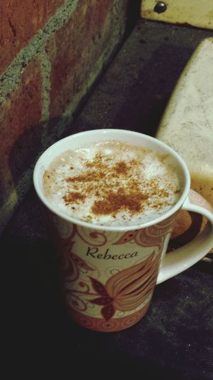 Secind cinnamon latte of the day....yum. Feels Like Christmas