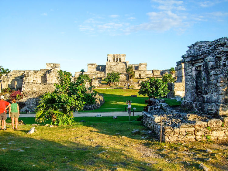 Ancient Ancient Civilization Archaeological Sites Architecture Castle El Castillo Famous Place History Mayan Mayan Ruins Mexico Old Ruin Stone Material Tourists Travel Destinations Tulum Tulum Ruins Yucatan Mexico Yucatan Peninsula Yúcatan