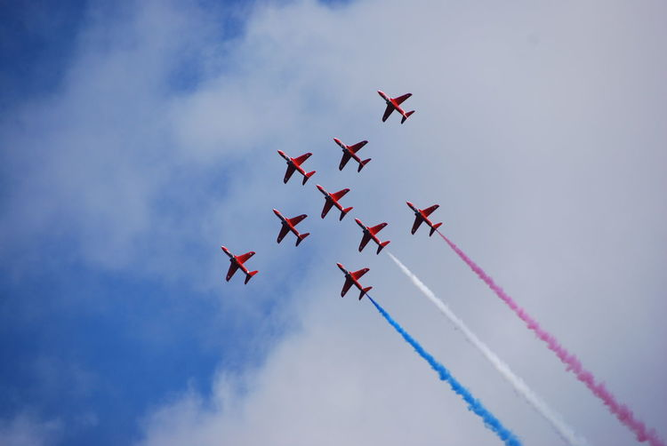 Red Arrows display at Newcastle, County Down, Northern Ireland Aircarft Airplane Clouds Clouds And Sky County Down Display Formation Formation Flying Mourne Mountains No Edit/no Filter Northern Ireland Red Arrows Sky Smoke On