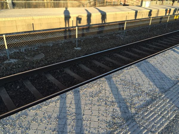 Station Station Platform Cold And Warm Sunset People Shadow Karlberg Station Train Tracks Lines And Shapes Evening Evening Light End Of The Day