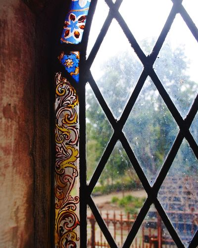 Details Stained Glass Stain Glass Window Montsalvat Australia Architecture