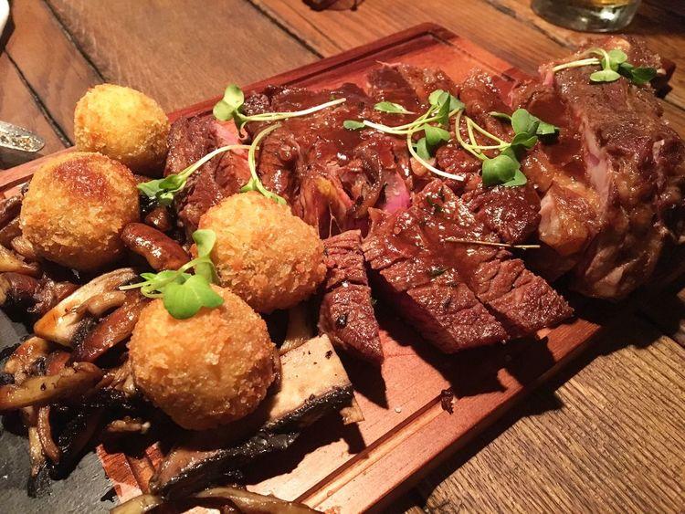 Good food. Prime rib eye bone marrow Dinner Time Meat! Meat! Meat! Taproommalta Valletta