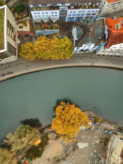 Topdown view of Limmat river at Baden DJI X Eyeem Dji Spark Dronephotography Water Architecture Built Structure Building Exterior Nature High Angle View Day Land Plant Transportation No People City Outdoors Sea Mode Of Transportation Building Yellow Flowering Plant Sunlight