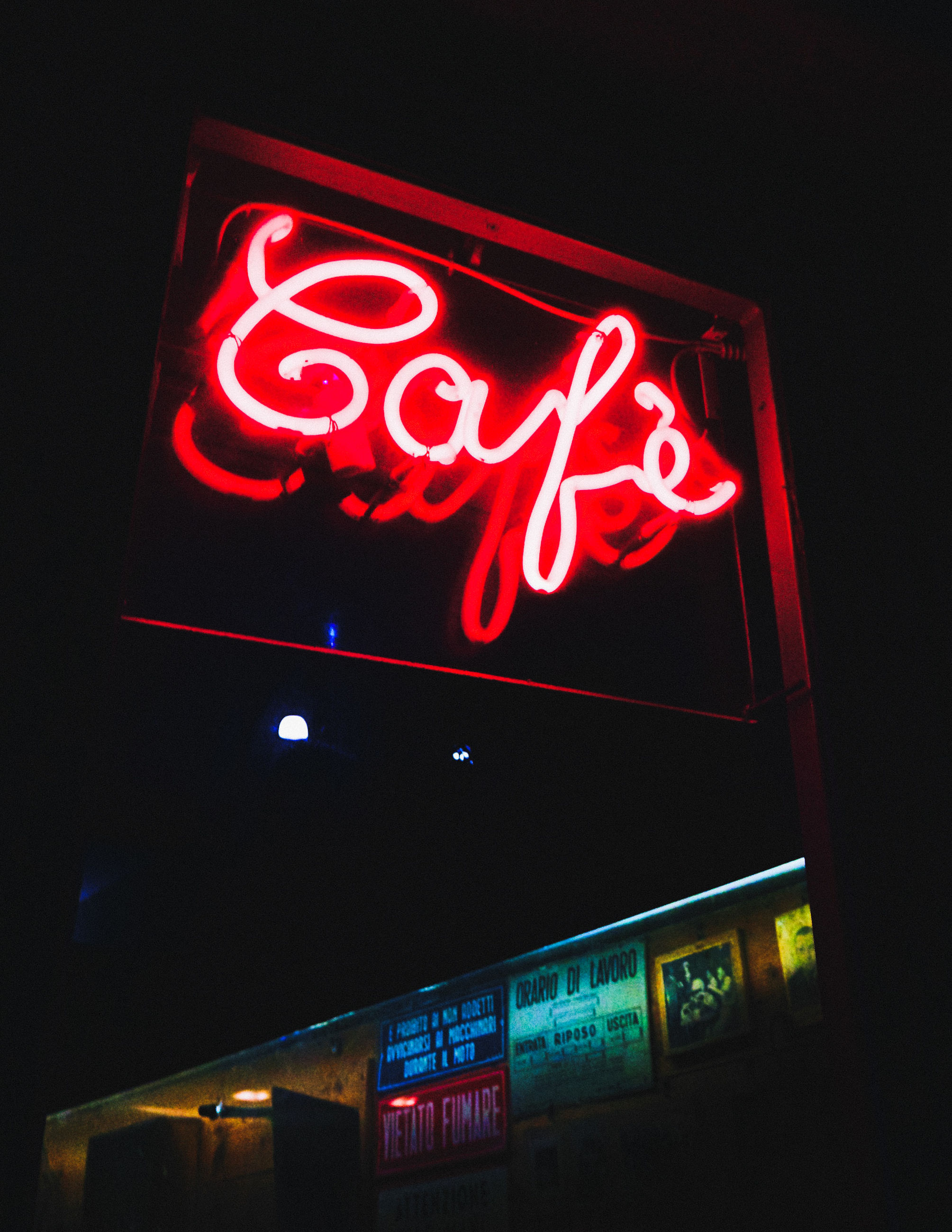 neon, information sign, night, illuminated, red, communication, text, dark, no people, close-up, indoors