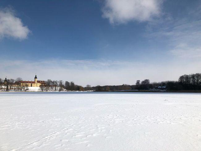 Winter Snow Cold Temperature Sky Weather White Color Nature Frozen Cloud - Sky Landscape No People Outdoors
