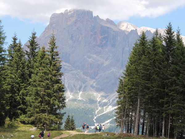 Dolomites, Italy Adult Beauty In Nature Day Forest Landscape Leisure Activity Lifestyles Men Mountain Nature Outdoors People Real People Scenics Sky Snow Tree Women