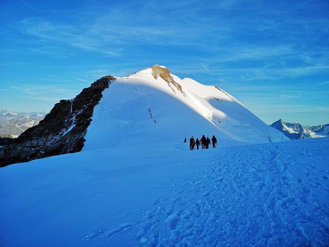 Arrivo al Colle Felik, 4061 metri di quota! Mountain Snow Cold Temperature Adventure Snowcapped Mountain Winter Sport Sky Landscape Rocky Mountains Glacier Glacial